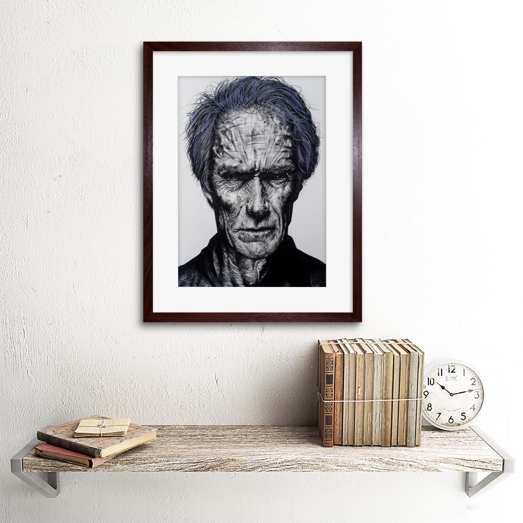 Pintura Clint Eastwood Wayne Maguire Enmarcado Pared Arte Impresión 12X16 en