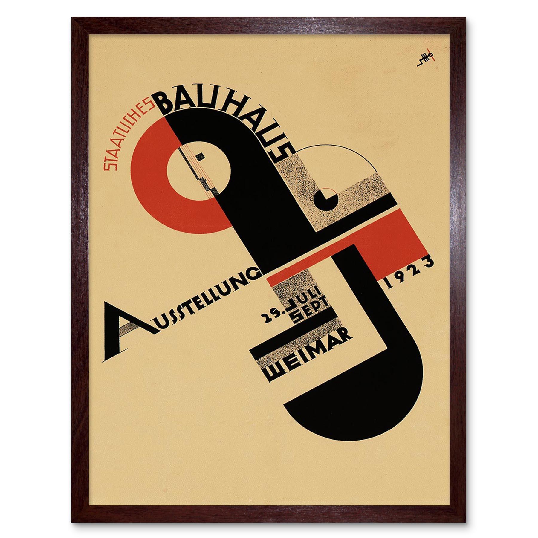 Exhibition Bauhaus Weimar Icon Germany Vintage Retro Advertising Framed Print