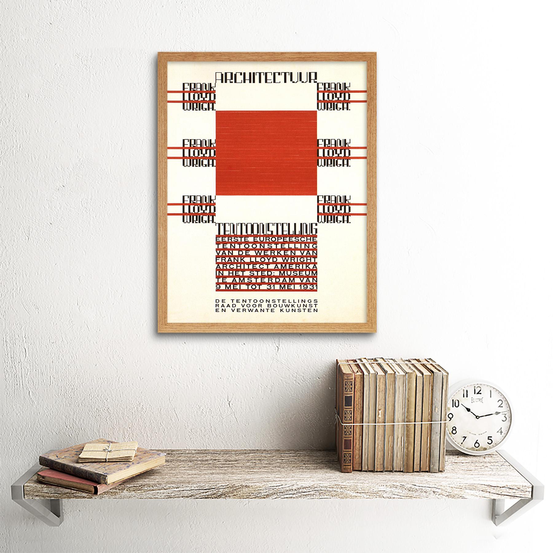 Exhibition Architecture Frank Lloyd Wright Amsterdam Netherlands Framed Print