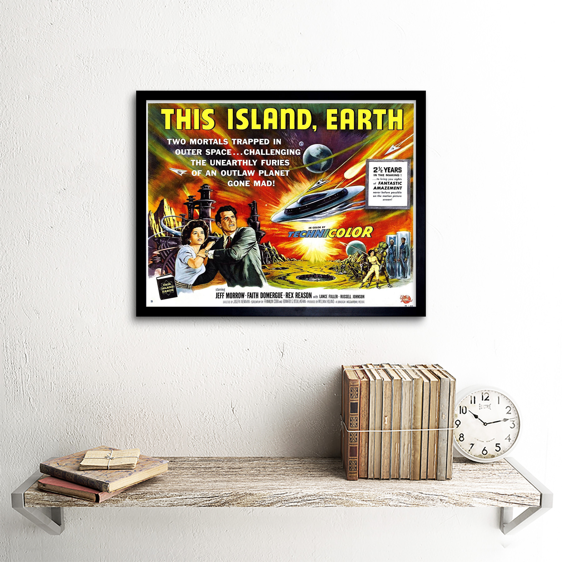 Movie Film This Island Earth Sci Fi Alien Planet 12X16 Inch Framed Art Print
