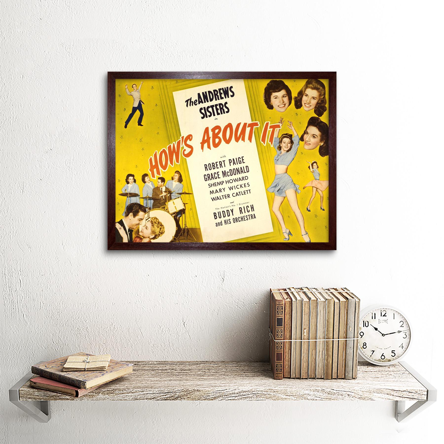 Publicidad Pelicula Peli muestra sobre ello Andrews Sisters 12X16 pulgadas impresión arte enmarcado