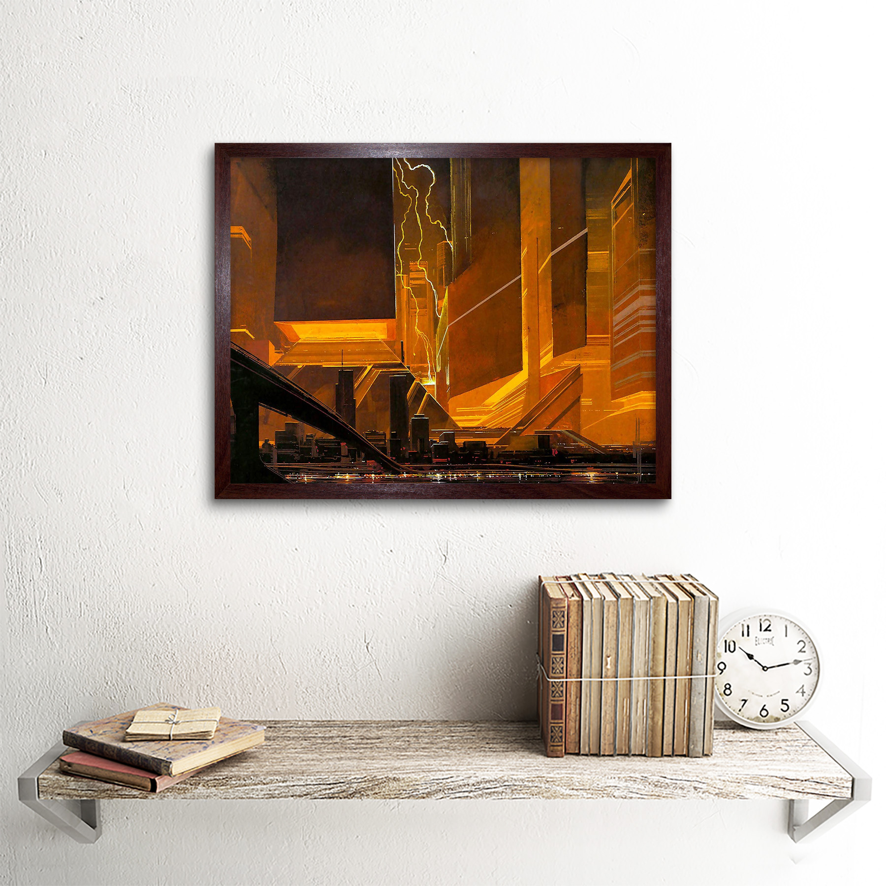Film Movie 1980 Syd Mead Bladerunner Concepts Plakat Drucken Framed Art Print