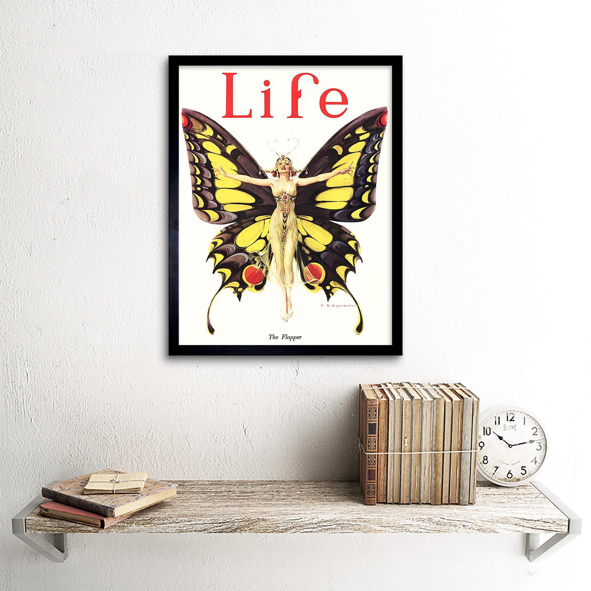 Magazine 1922 Life Butterfly Dancer 12X16 Inch Framed Art Print