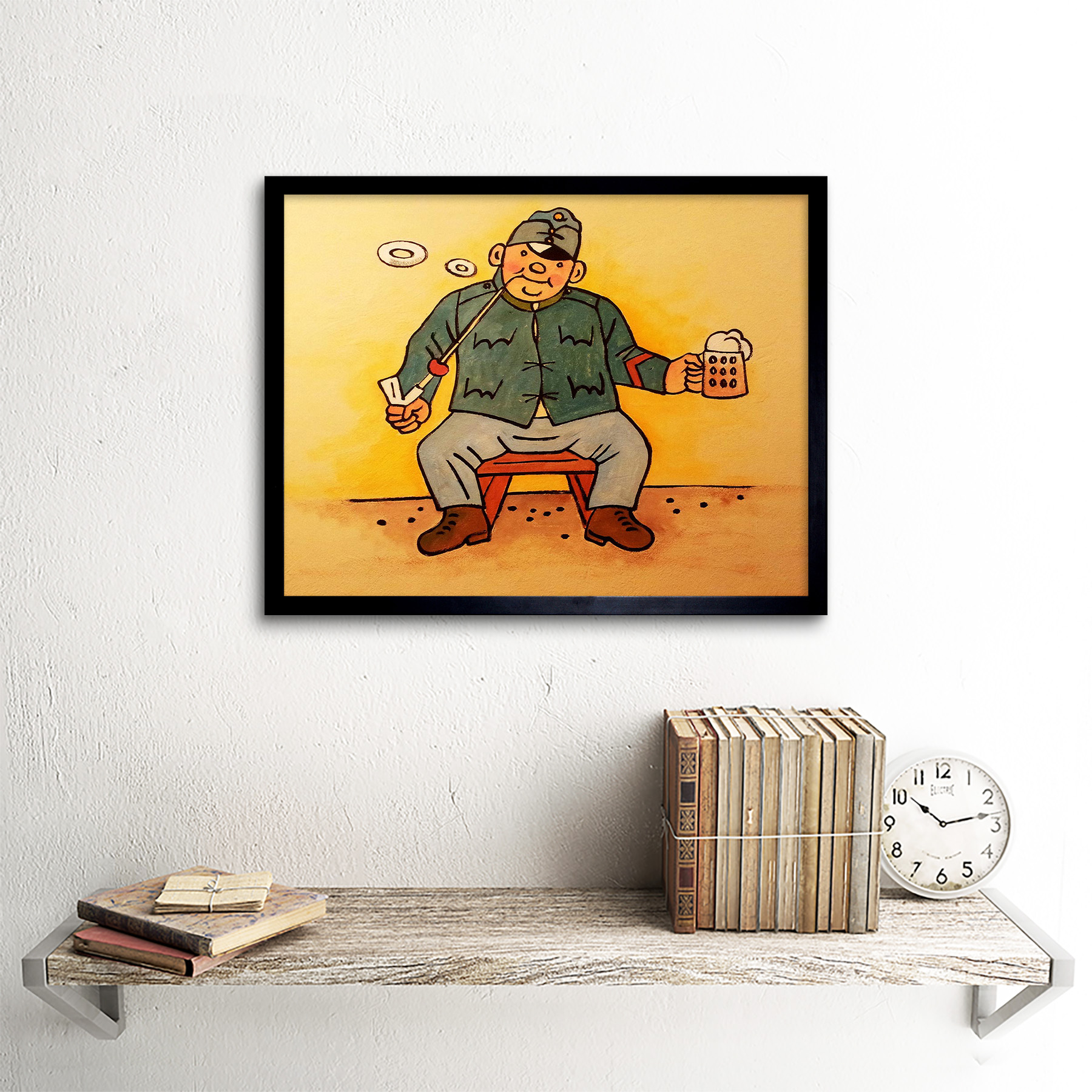 Painting Anonymous Good Soldier Svejk 12X16 Inch Framed Art Print