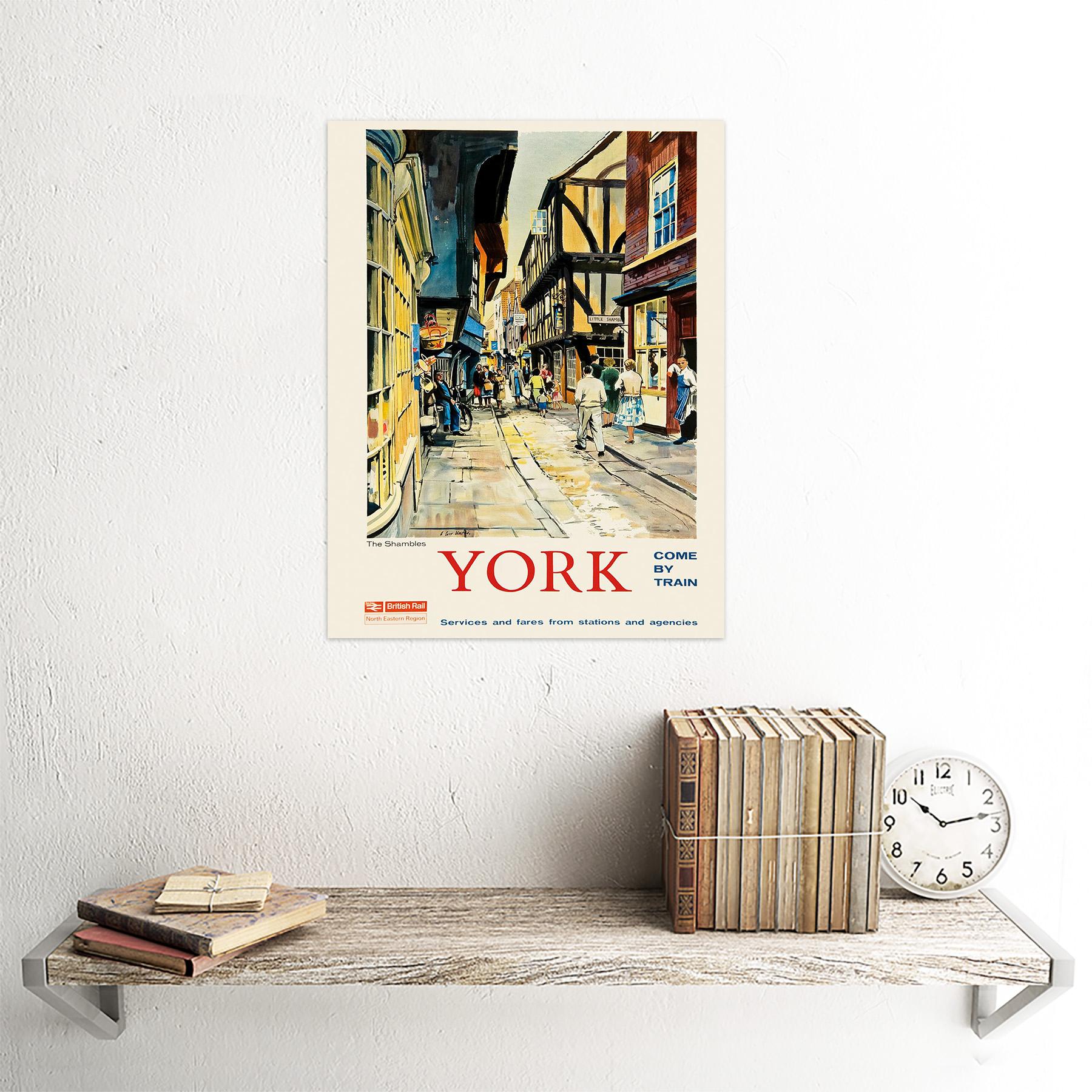 Travel Tourism York England Rail Shambles Medieval Butcher Street Framed Print