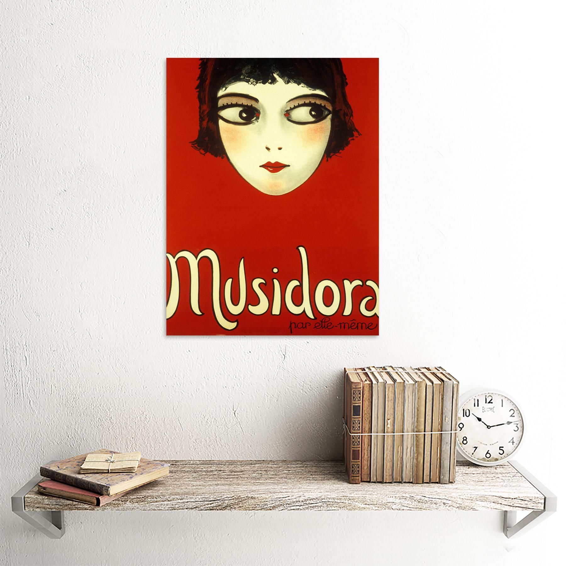 Actriz francesa Musidora solo muestran anuncio Pared Arte Cartel enmarcado
