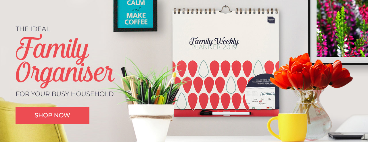 Family Weekly Planner - The ideal family organiser for your busy household