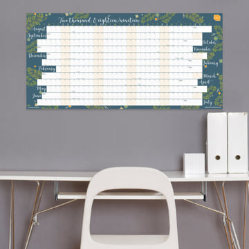 2018-2019 Extra Large Academic Wall Planner (Linear)