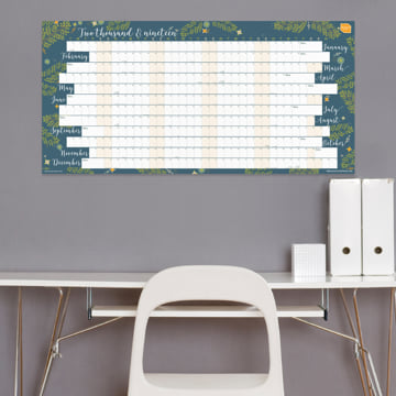 2019 Extra Large Year Wall Chart