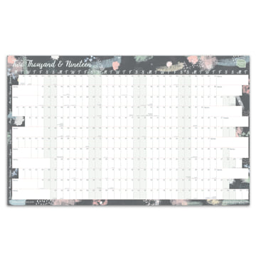 2019 Wall Chart (linear) non-laminated