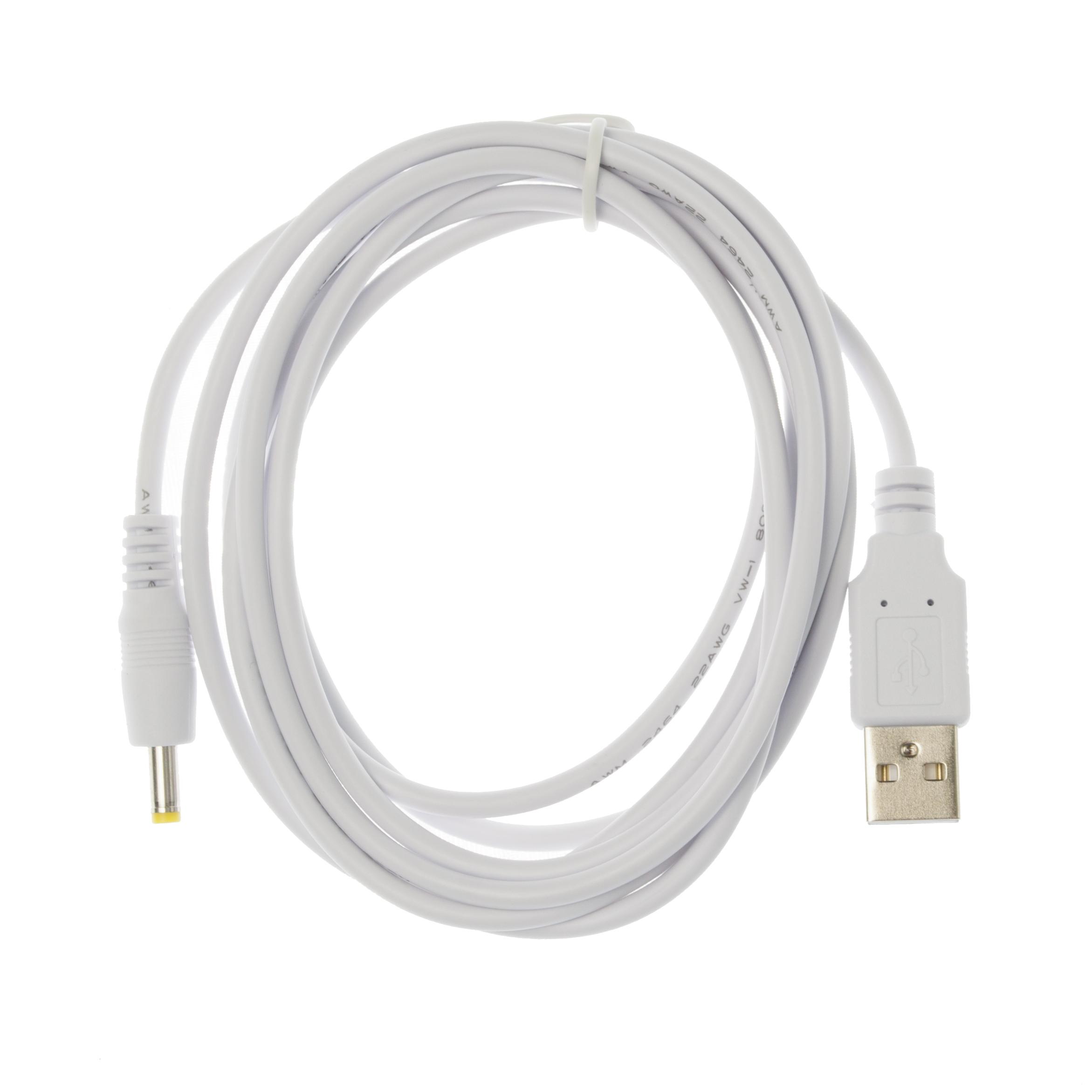 2m USB Cargador con Cable De Alimentación Blanco Para Cámara Ip Samsung SmartCam SNH-1011N