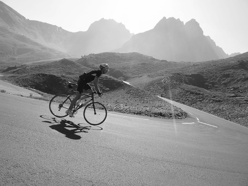 Attacking Tourmalet on a C2C tour