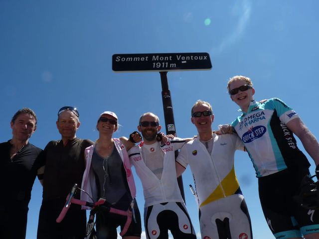 Successful cyclists on Ventoux