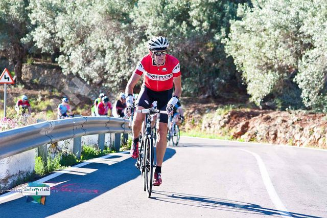 Chris at La Gamba cyclosportive in Spain
