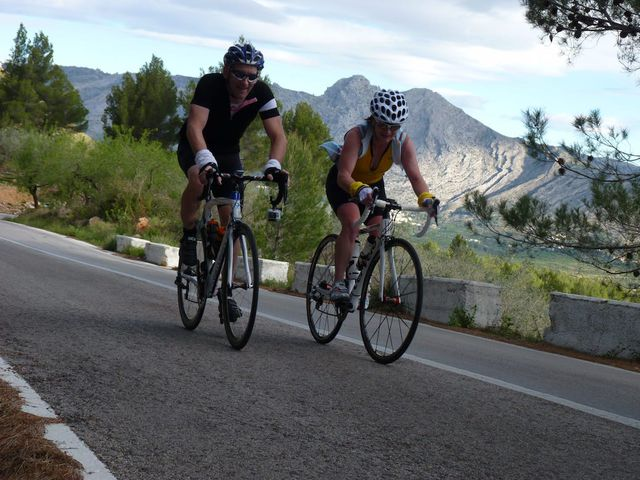 Climbing the ever-popular Coll de Rates