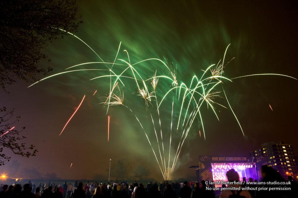 Firework Display - Light in the Night Bonfire Blast