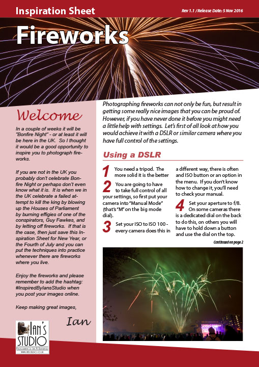 Inspiration Sheet – Fireworks