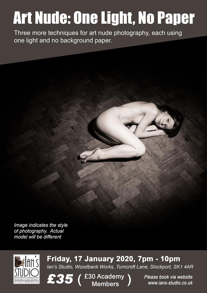 MODEL ANNOUNCED: Fri, 17 Jan 2020 – Art Nude: One Light, No Paper