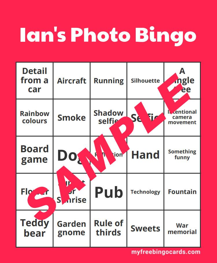 BLOG 19 DEC 2020 – Ian's Photo Bingo Challenge