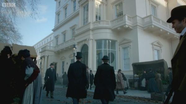 Exterior of London filming location 10-11 Carlton House Terrace in BBC's Sherlock