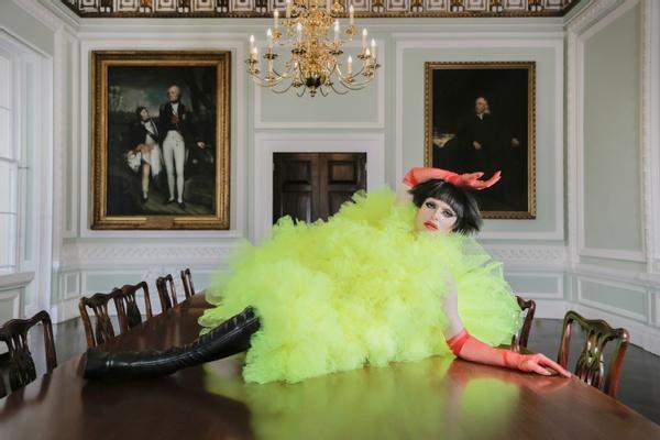 Bimini Bon Boulash shooting for Sicky magazine at london photoshoot venue 10-11 Carlton House Terrace