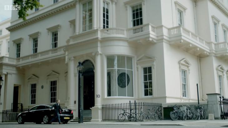 The Exterior of 10-11 Carlton House Terrace in BBC's Sherlock