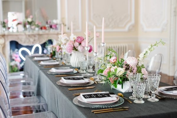 Intimate wedding breakfast in the Music Room