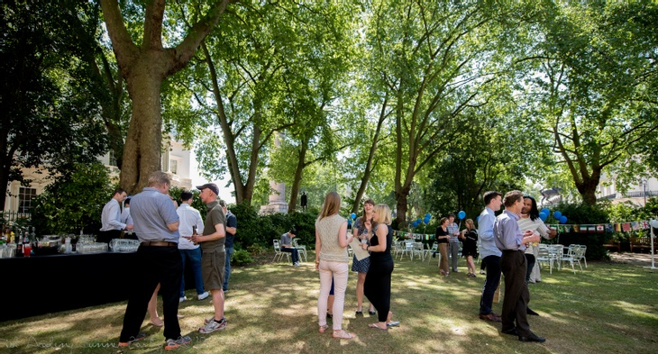 Guests at London summer party venue: 10-11 Carlton House Terrace