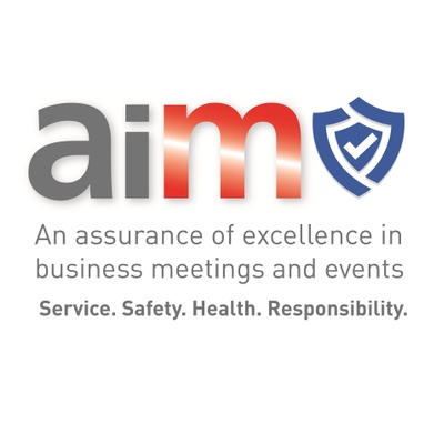 Aim: an assurance of excellence in business meetings and events logo