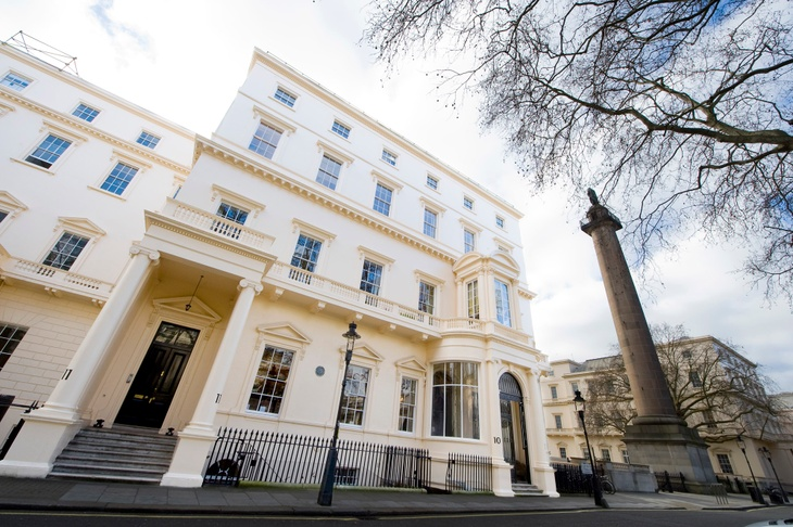 Exterior of historic London conference venue 10-11 Carlton House Terrace