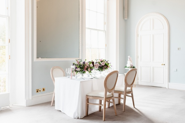 Micro wedding table set-up at small London wedding venue 10-11 Calrlton House Terrace
