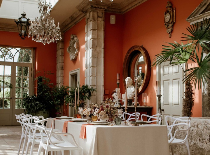 European-style wedding set-up