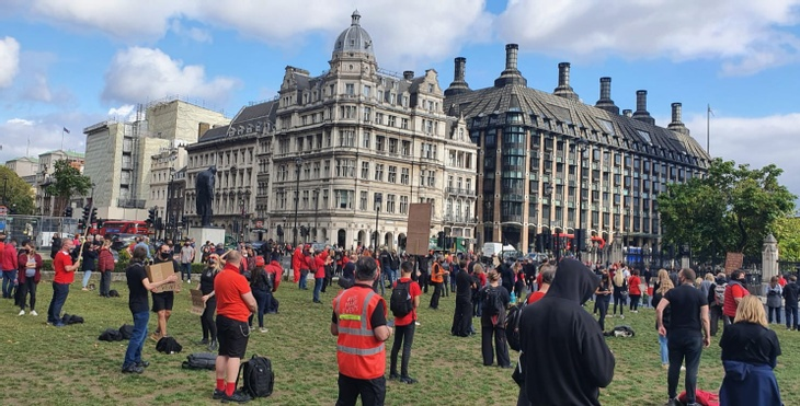 Socially distance protest for the events industry in 2020