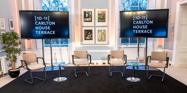 Hybrid studio for hire in London at 10-11 Carlton House Terrace