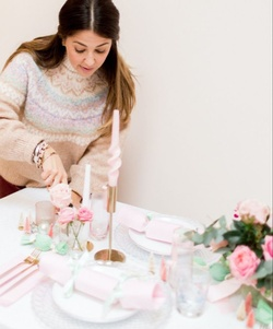 Holiday table decor with virtual styling