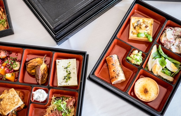 Bento boxes offered by London caterer Searcys