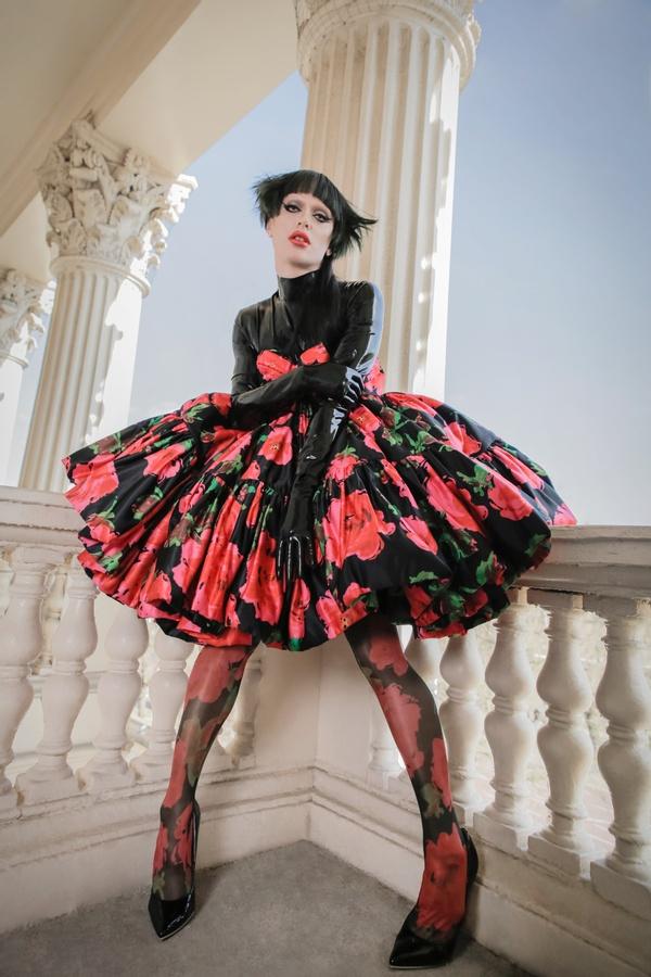 Bimini Bon Boulash shot for Sicky magazine at central London photoshoot venue 10-11 Carlton House Terrace