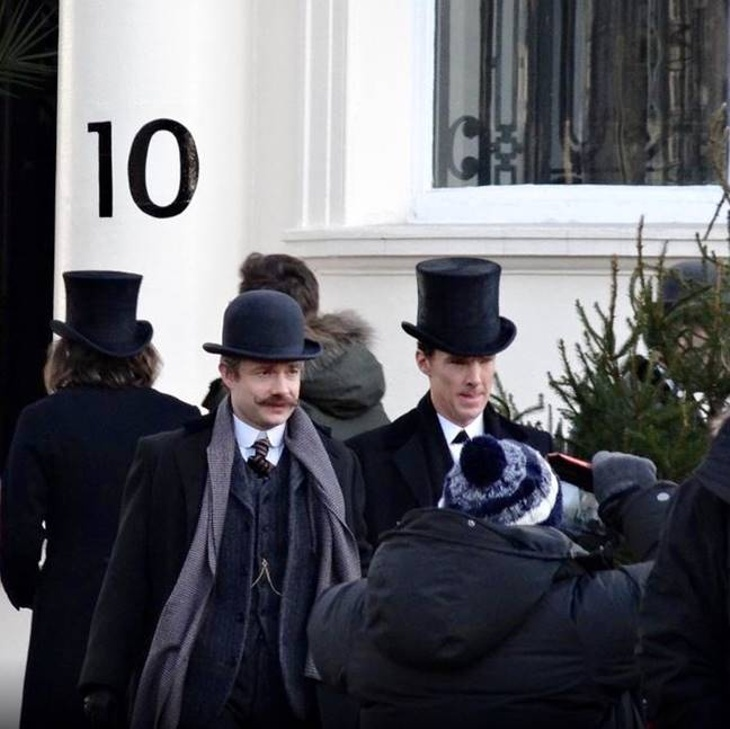 Behind the Scenes at filming venue to hire 10-11 Carlton House Terrace for BBC's Sherlock