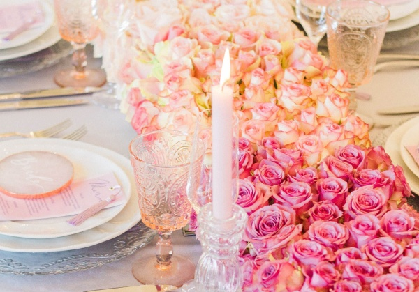 Close up of table decor at a micro wedding