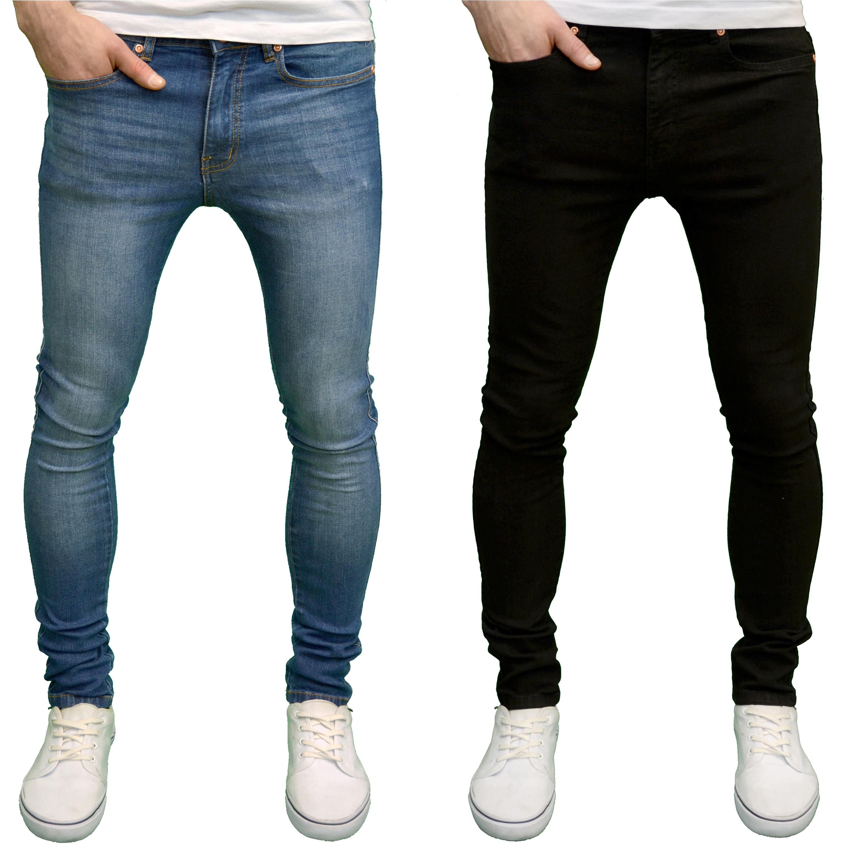 Seven Series Branded Mens Designer Panelled Detail Stretch Skinny Fit Jeans BNWT