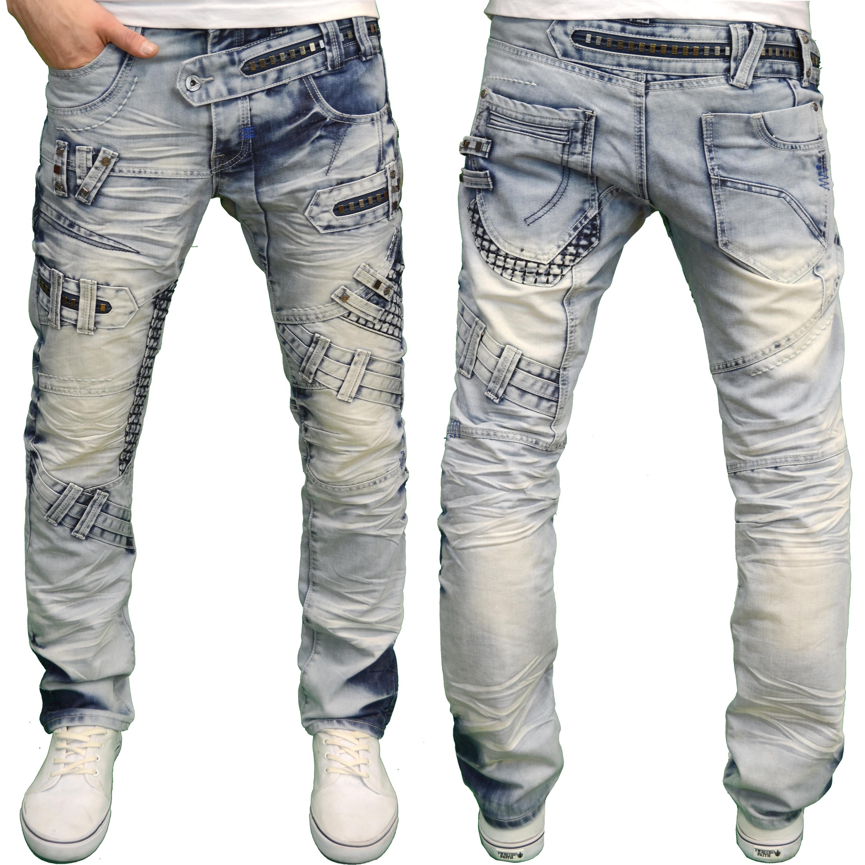 Details about Eto Mens Designer Branded Funky Heavy Detailed Regular Fit  Jeans f0cfb35a436