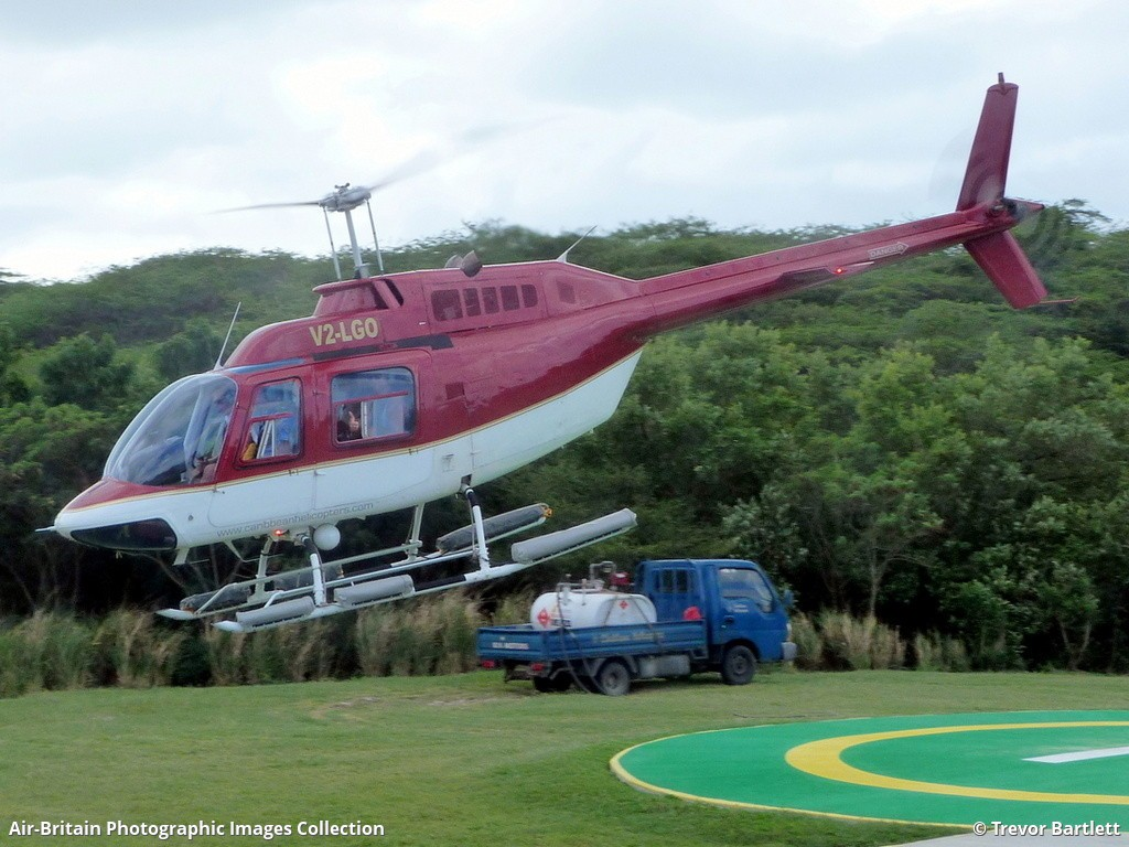 Bell 206B 2 Jet Ranger II Caribbean Helicopters Fort Road Heliport St Johns Antigua And Barbuda Trevor Bartlett