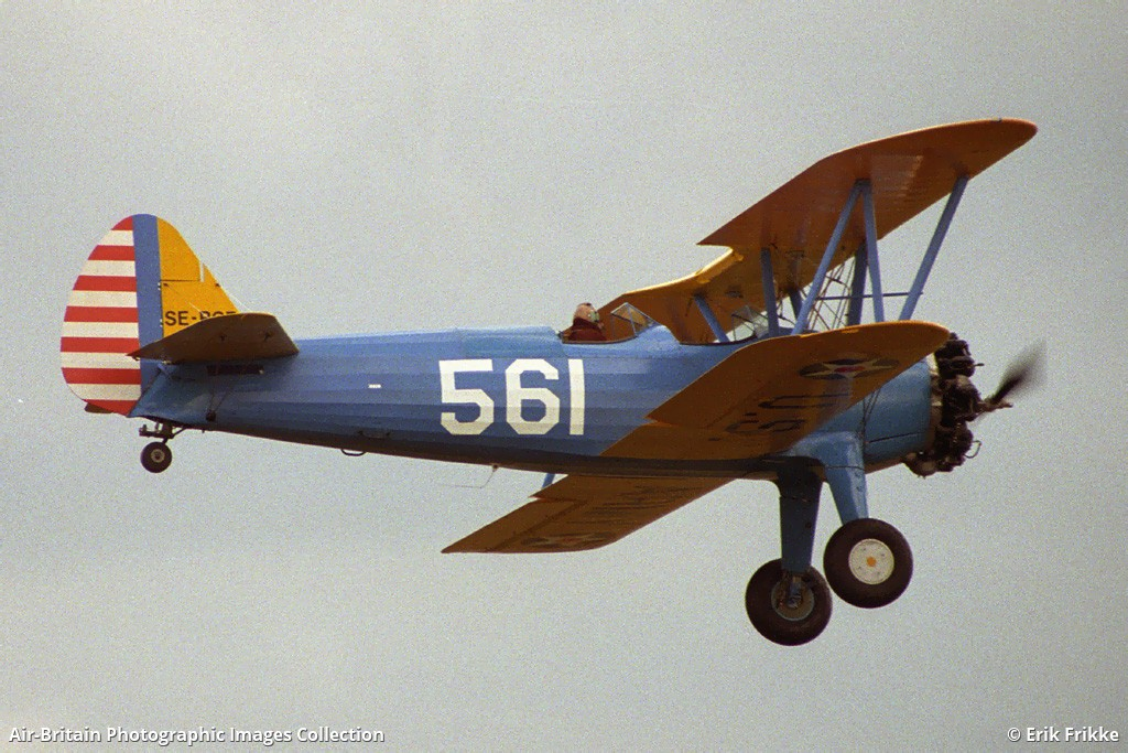 Aviation photographs of Stearman PT-13B Kaydet (A75) : ABPic