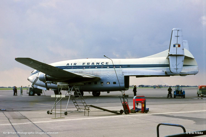 Breguet Br.763 Deux Ponts · Air France (AF / AFR) · Copenhagen - Kastrup  (CPH / EKCH), Denmark · Erik Frikke - 27/09/1968