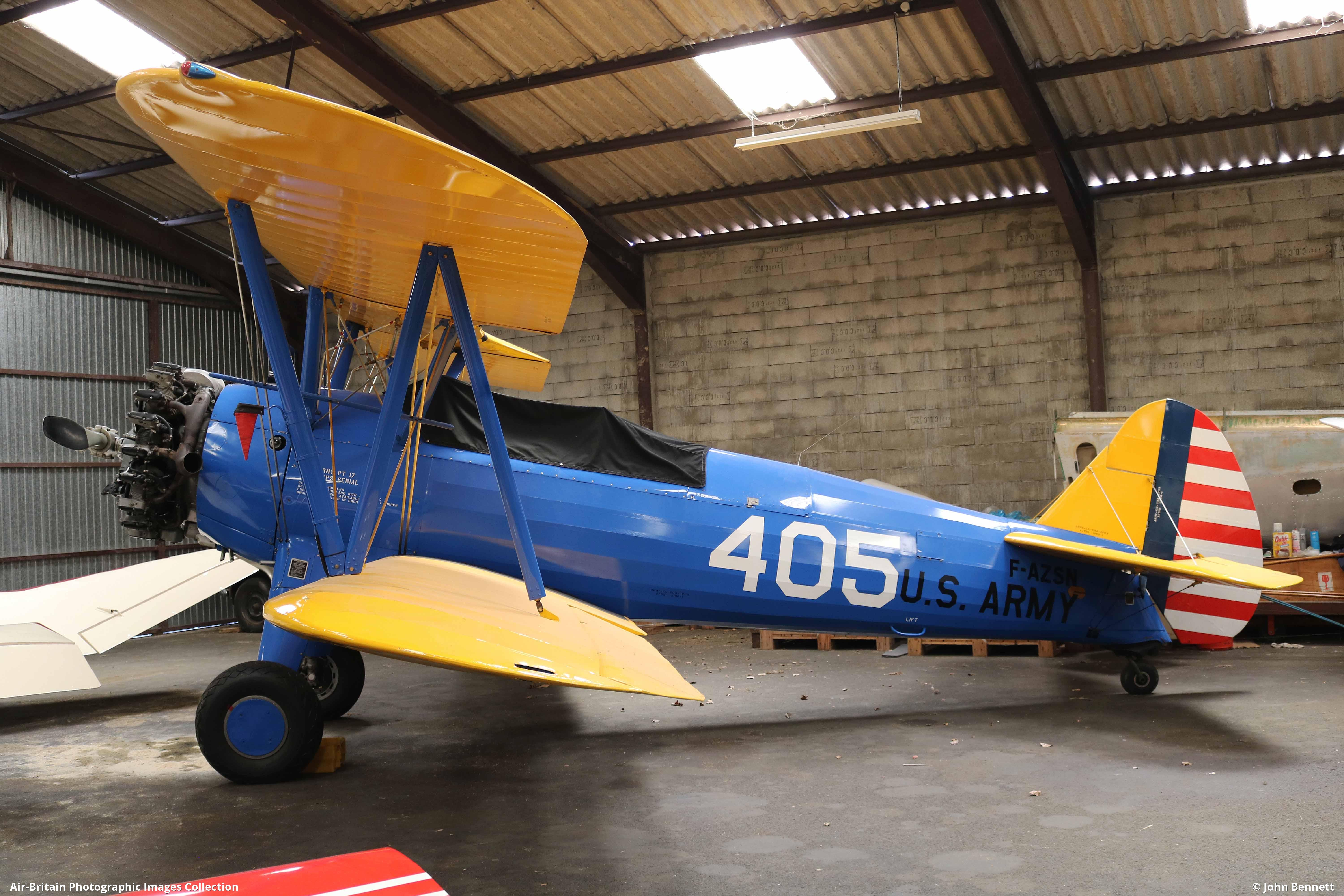 Boeing PT-17 Stearman Kaydet, F-AZSN / 75-442, Private : ABPic
