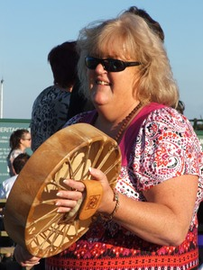 Pennie drumming at stonehenge