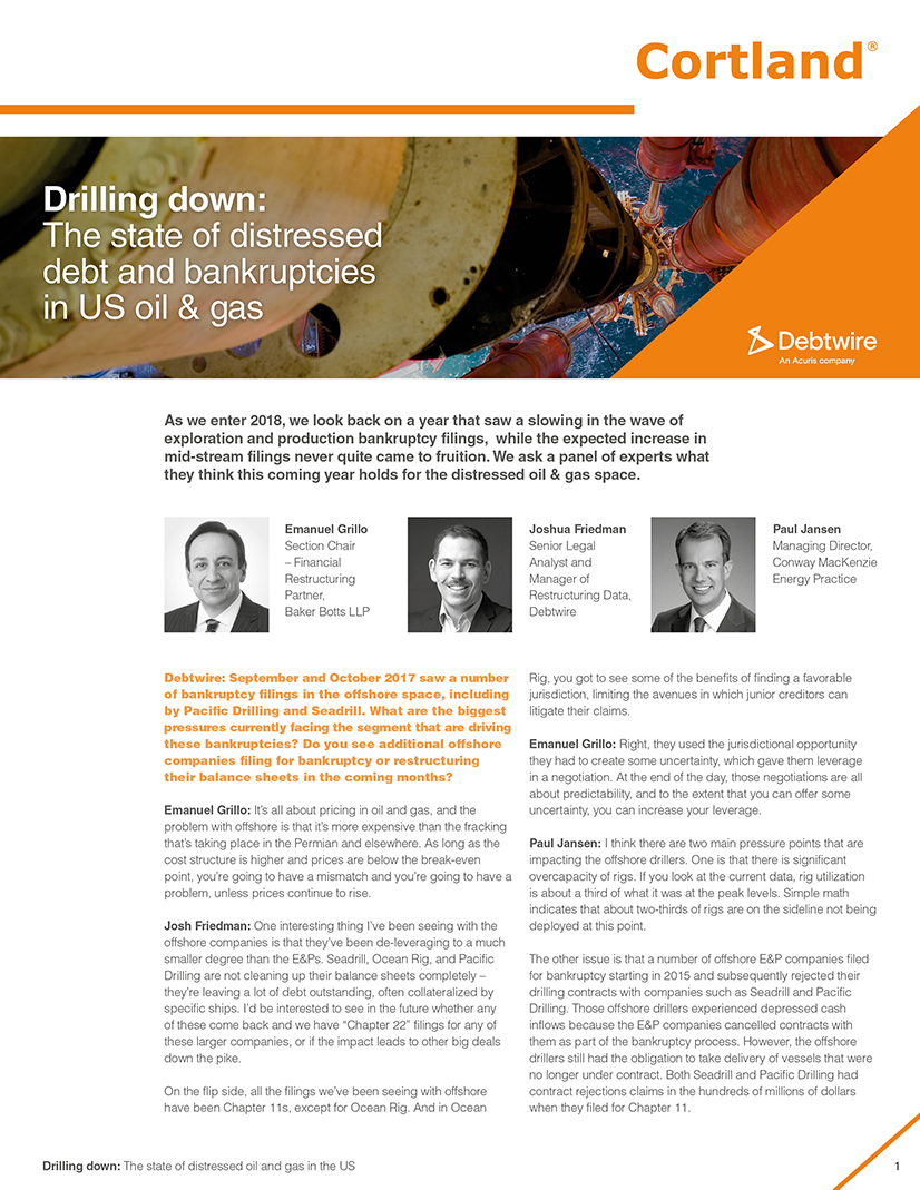 Drilling Down The State Of Distressed Debt And Bankruptcies In US Oil Gas