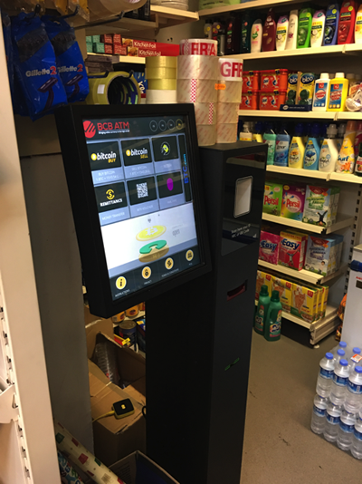 Cryptocurrency machines are starting to appear next to every day items like washing powder!