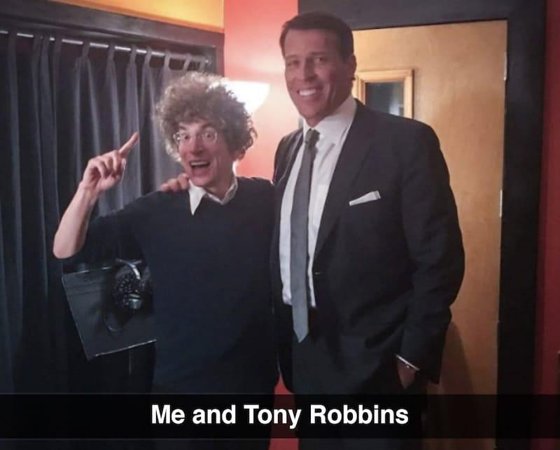 Me and Tony Robbins
