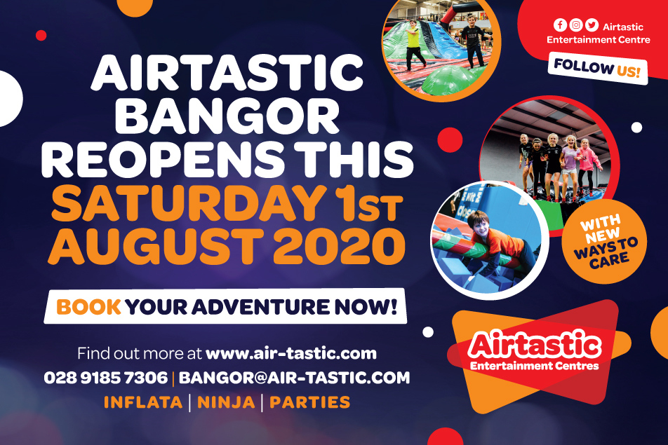 Airtastic Bangor Reopening 2020 Website post Feature image 952x635